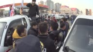 South Korean riot and police and farmers scuffles during an AntiGovernment rally at Ansung toll gate in Ansung South Korea The planned farmers' rally...