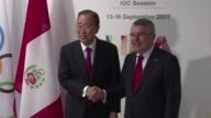 South Korea's Ban Ki moon former UN secretary general was appointed as the new chair of the IOC Ethics Commission on Thursday during the IOC session...