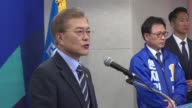 South Korea's presidential hopefuls make a final push for votes with the leftleaning candidate Moon JaeIn the clear favourite