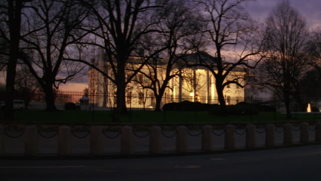 MS South lawn of white house at night / Washington D.C., United States