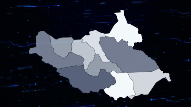 South Sudan network map