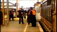 London Waterloo Manager acting as train guard signalling for train to leave station Andrew Haines interviewed SOT Have been training managers so we...