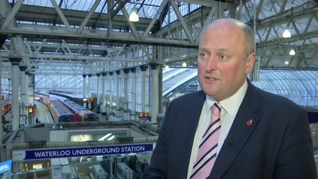 South Western Railway disrupted by train faults and cancellations ENGLAND London Waterloo EXT Andy Mellors interview SOT