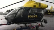 South Yorkshire Police 'helicopter sex filming' trial FILE Yorkshire EXT GVs South Yorkshire Police helicopter towed onto airfield/ South Yorkshire...