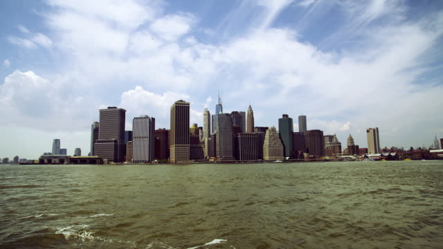 Southern tip of Manhattan day time lapse