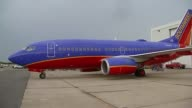 WGN Southwest Airplane Parked On Tarmac on September 15 2013 in Chicago Illinois