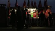 Souvenir stalls outside Old Trafford Old Trafford General Views at Old Trafford on March 05 2013 in Manchester England
