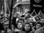 MS Soviet army helicopters throw leaflets calling Lithuanian government to resign demonstrators with banners 'Red Army go home' AUDIO / Vilnius...