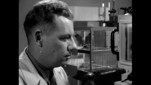 Soviet scientist subjects bird to experiment in pressurized chamber