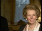 Soviet tanks begin withdrawal / Imre Pozsgay meets Margaret Thatcher Imre Pozsgay shaking hands with Margaret Thatcher and posing for photocall...