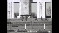 Soviet War Memorial with soldiers of the USSR marching to change the guard / 1012003