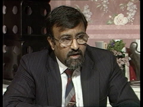 Soviet withdrawal / Humanitarian aid efforts ENGLAND London Harrow UN Offices INT Mahendra Shah interview SOT [Kabul's needs are getting to a...