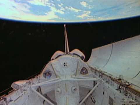 Space Shuttle orbiting the Earth, Payload Bay opening