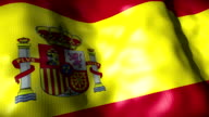 Spain Flag waving, looping