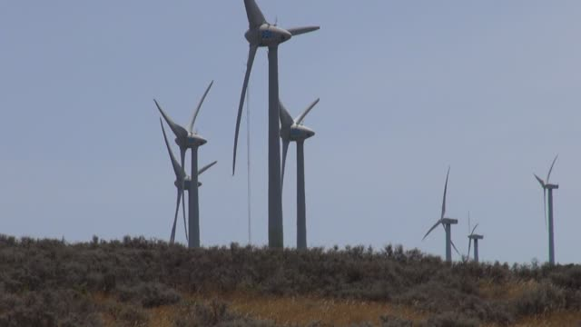 Spain hits investors in wind farms and turbines by slashing subsidies Andalusia at Manilva on July 29 2013 in Manilva Spain