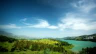 Spain landscape, clouds time lapse