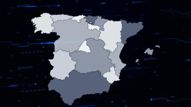 Spagna rete mappa