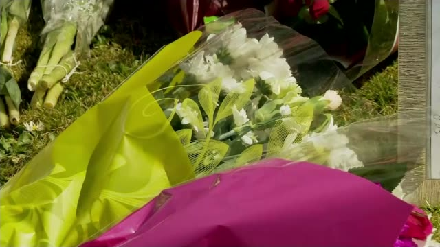 Two teenagers jailed for at least 20 years each LIB / TX Lincolnshire Spalding Cuddly toy on floral tribute Floral tributes PAN photographs of...