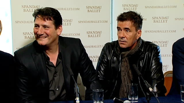 Spandau Ballet press conference You never know but we've got such a catalogue of old tunes We'll see how the tour goes People will want to hear how...