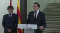 Spanish prime minister Mariano Rajoy calls for the country's political leaders to stand together in the face of terrorism following the deadly...
