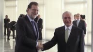 Spanish Prime Minister Mariano Rajoy met with his Brazilian counterpart Michel Temer Monday in Brasilia to discuss new investments in Brazil