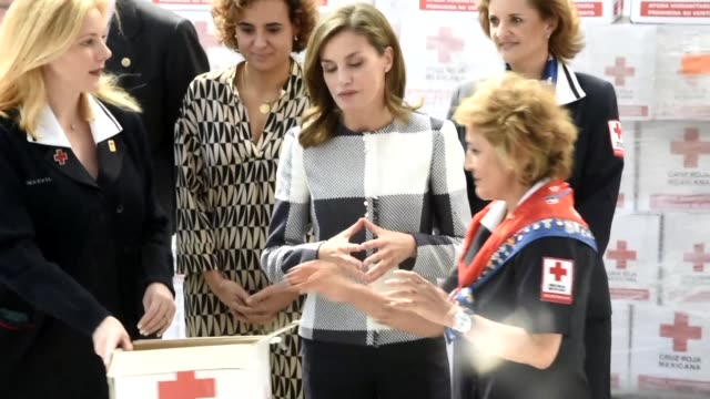 Spanish Queen Letizia visited the headquarters of the Red Cross in Mexico Monday as she participates in the World Cancer Leaders Summit this week