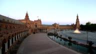 HD: Spanish Square espana Plaza in Sevilla Spain