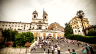 Spanish Steps and Trinita dei Monti  Timelapse in Rome