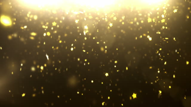 Sparkle Dust Background Video - Gold Stars (Loopable between 6&12sec)