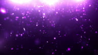 Sparkle Dust Background Video - Purple Stars (Loopable between 6&12sec)