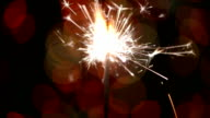 Sparkler close up,bukeh