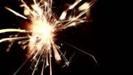 Sparkler close-up