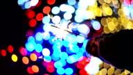 Sparklers. Bokeh lights