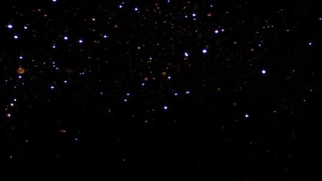 Sparkling silver starry sky