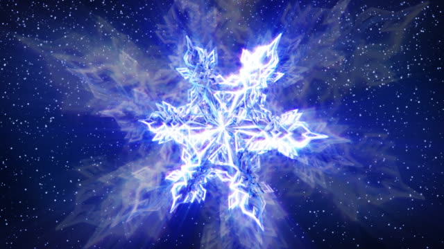 Sparkling Snowflake and Falling Snow