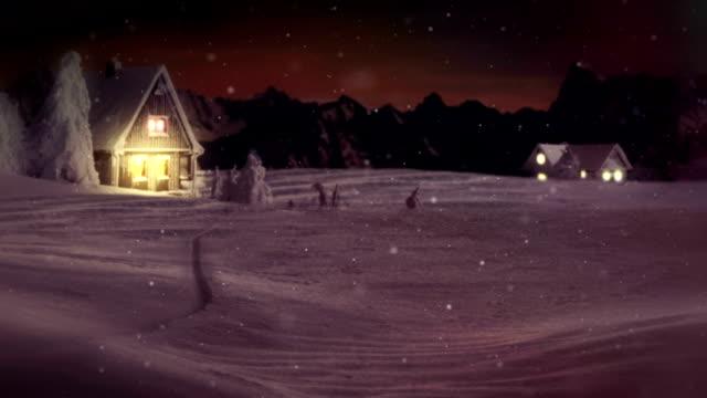 HD: Sparkling Text Over Winter Wonderland