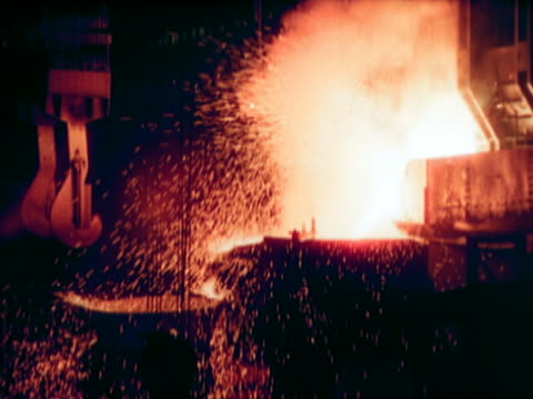 Sparks and Smoke in a Steelworks