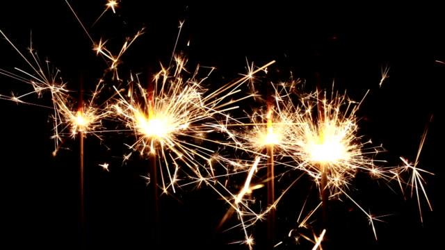 Sparks over black