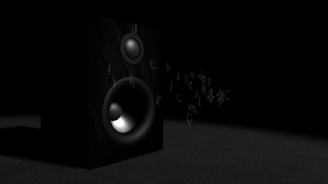 Note musicali e altoparlante