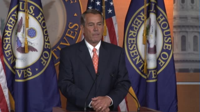 Speaker of the House John Boehner says during weekly news conference a decision was not yet made 'how best to address this issue'