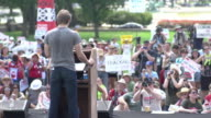 Speakers on Stage at AntiFracking Rally at US Capitol on July 28 2012 in Washington DC