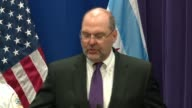 WGN DEA special agent in charge Dennis Wichern spoke at a press conference on March 24 2017 after a series of drug and gang raids on Chicago's West...