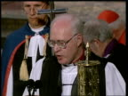 Funeral of Princess Diana 1100 1200 Dr George Carey reads the prayers for Diana her family the Royal family all who mourn the Princess's life and...