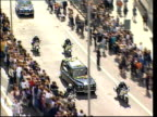 Funeral of Princess Diana 1200 1300 Mourners leaving Abbey Tom Conti Tom Cruise Tom Hanks and Nicole Kidman leaving Sting leaving abbey Hearse and...