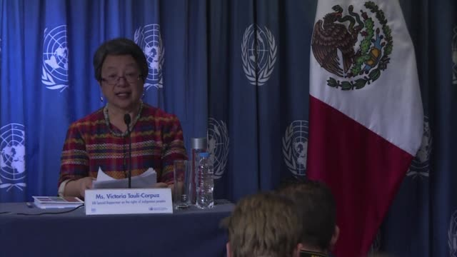 UN Special Rapporteur on Indigenous Issues Victoria Tauli Corpuz says drug cartels and other criminal organisations in Mexico are forcibly recruiting...