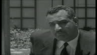 Robin Day questions President Nasser Day asks question about suppression of candidates in upcoming elections SOT Nasser interview SOT If you return...