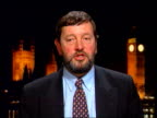 Specialist teaching for bright pupils ITN London Westminster David Blunkett MP interview SOT Talks of extra funding available for extra tuition /...