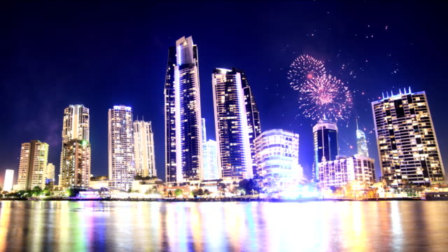 Spectacular Fireworks over the city
