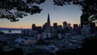 Spectacular San Francisco Sunrise. 4K
