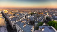 Spectacular View of Paris at Sunset - Time Lapse
